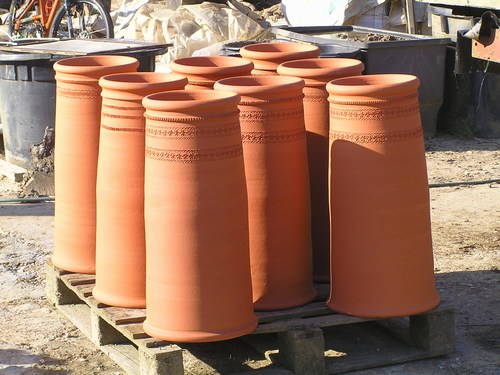 Handmade chimney pots