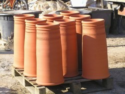 roulletted chimney pots