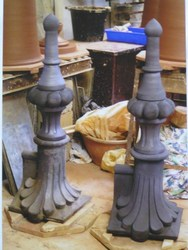 Ornate 3ft tall finials for Victorian railway station