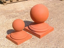 Square based ball finials