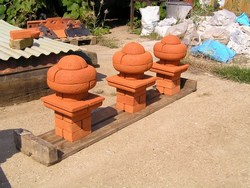 Unusual brick finials