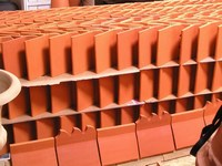 Ridge tiles awaiting shipping