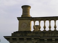 new roundel beneath Coade Stone chimney